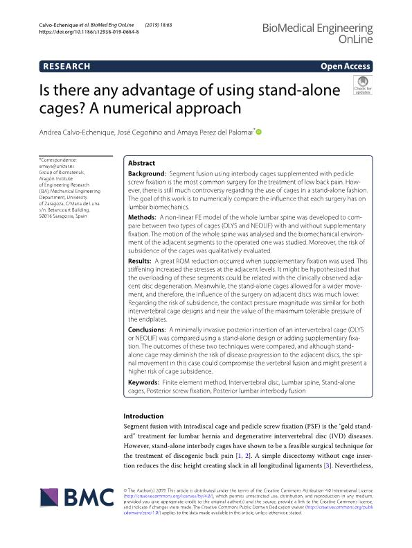 Is there any advantage of using stand-alone cages? A numerical approach