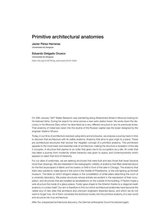 Primitive architectural anatomies