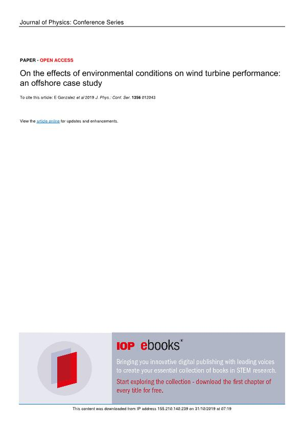 On the effects of environmental conditions on wind turbine performance: an offshore case study
