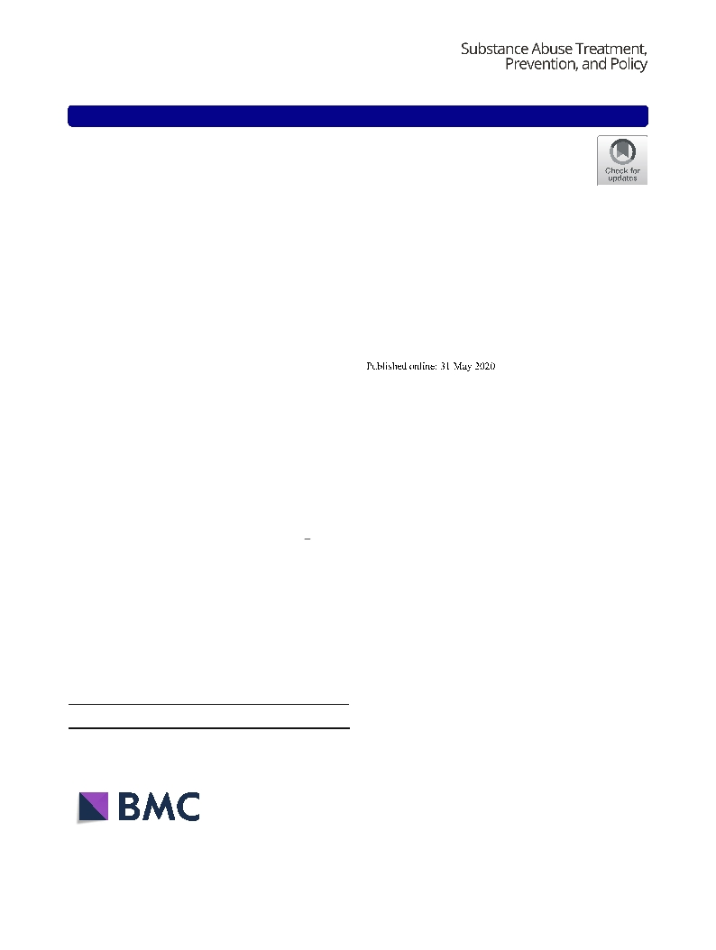 Effects of behavioural activation on substance use and depression: a systematic review (vol 13, 36, 2018)